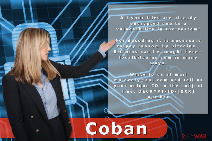 The image of Coban ransom note