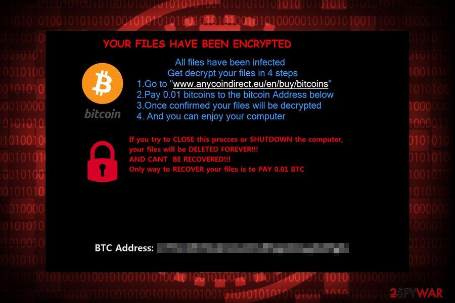 The screenshot of ExoLock ransom note