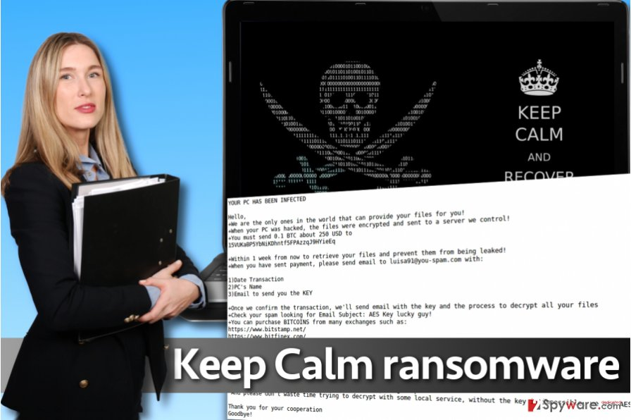 Keep Calm ransomware virus