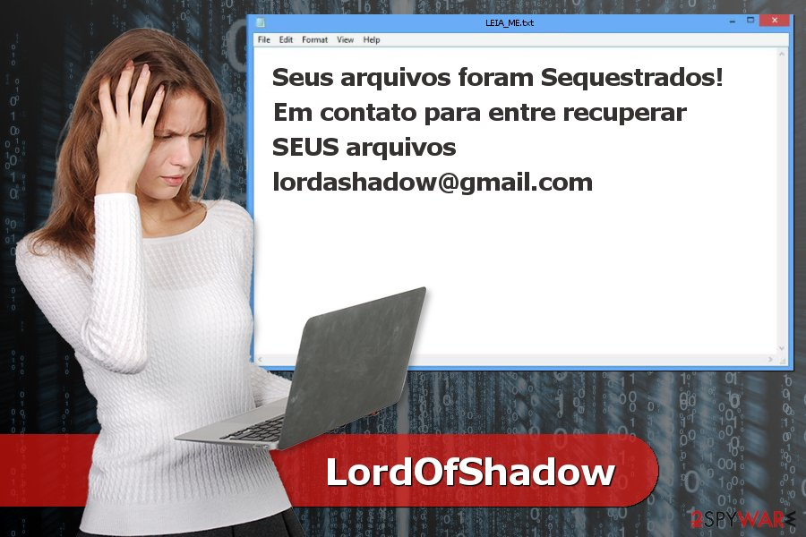 Ransom note by LordOfShadow ransomware virus