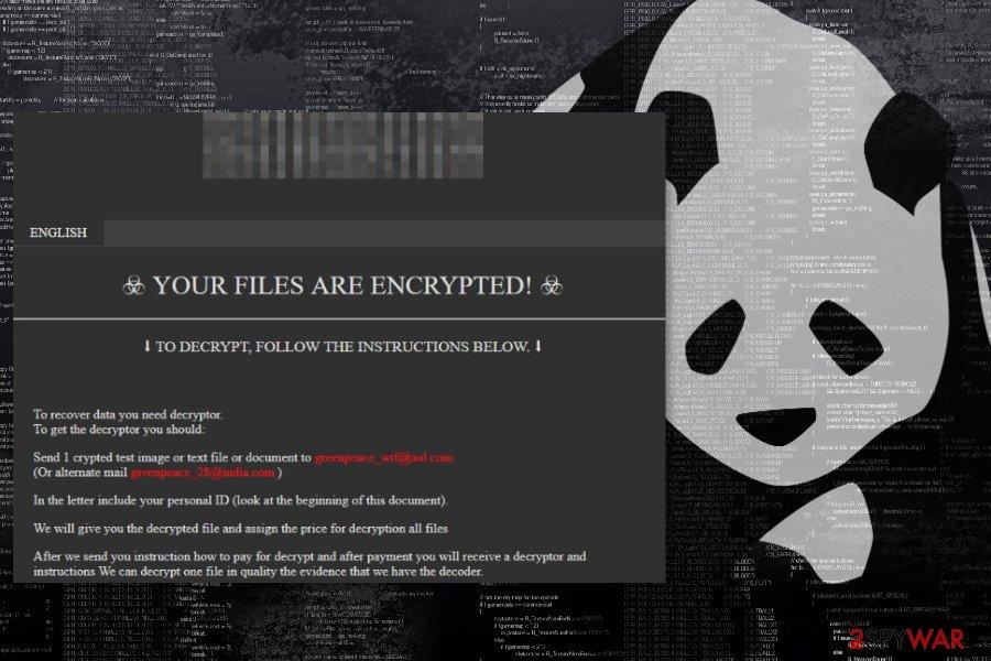 Panda ransom note