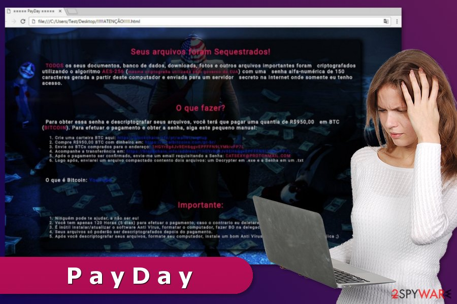PayDay ransomware virus