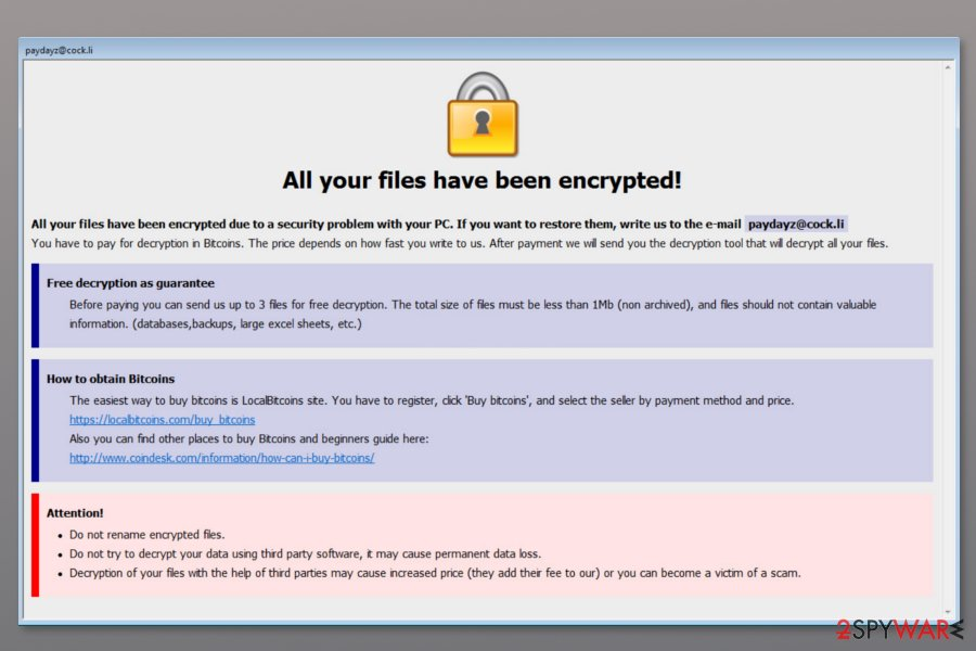 Ransom note by Shadow ransomware