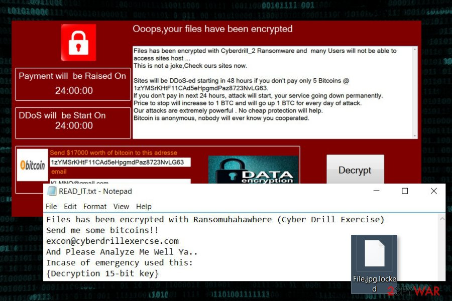 Ransom notes by CyberDrill ransomware virus