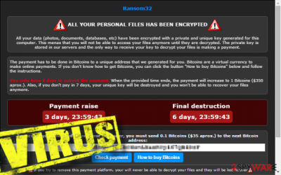 Ransom32 ransomware removal