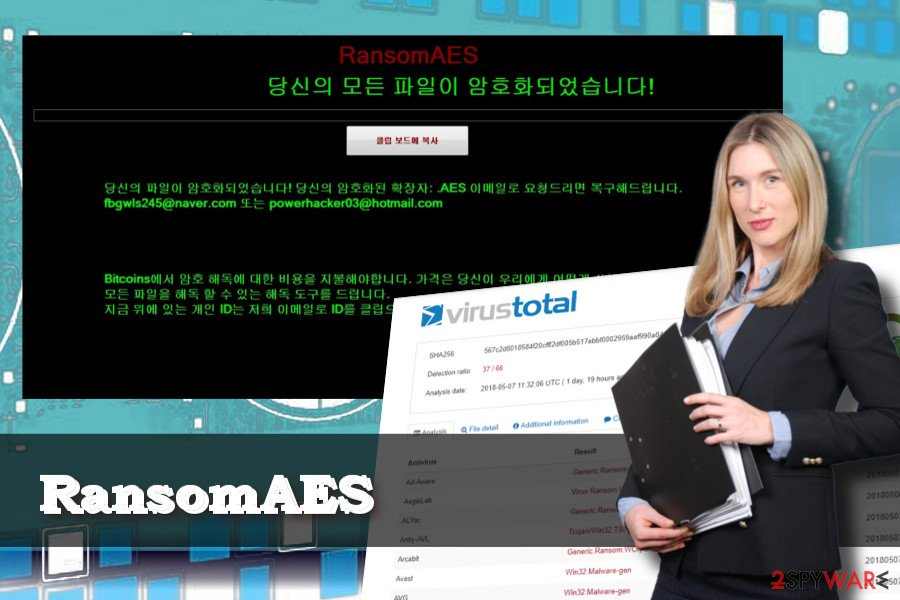 RansomAES virus target Korean PC users
