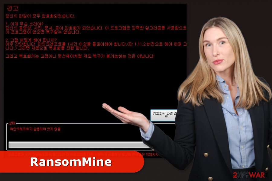 Image of RansomMine ransomware virus