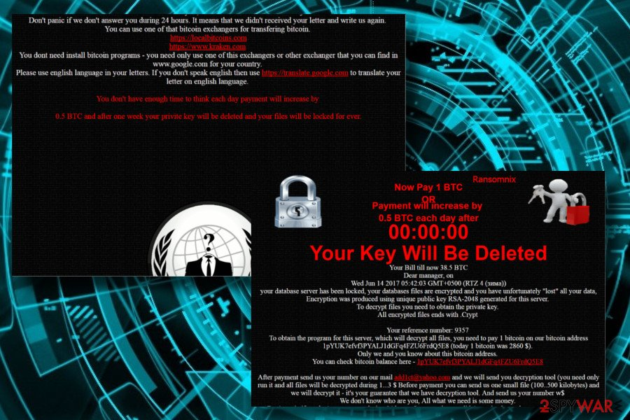 Ransomnix ransomware locks websites