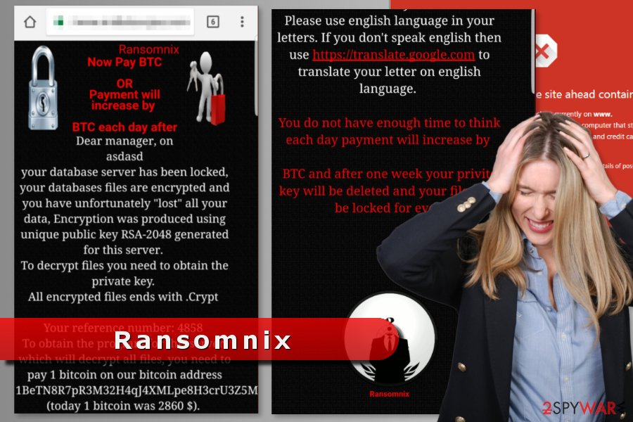 The picture of Ransomnix ransomware virus