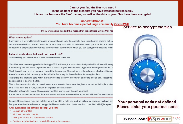 The warning message of ransomware .exx File Extension virus