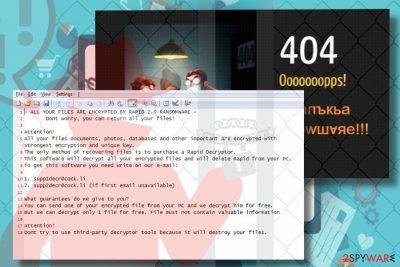 Rapid 2.0 ransomware virus locks personal files