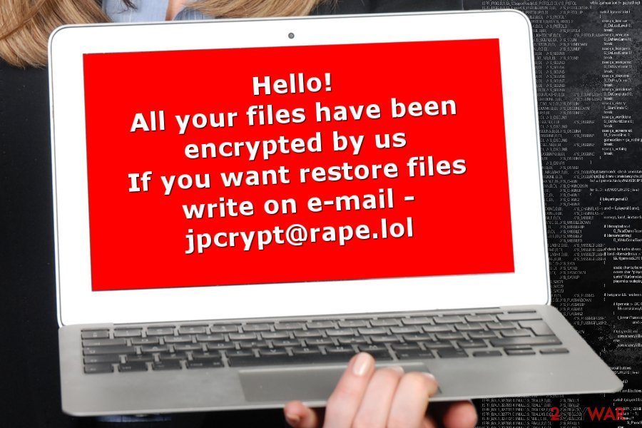 The example of Rapid ransomware virus' ransom note