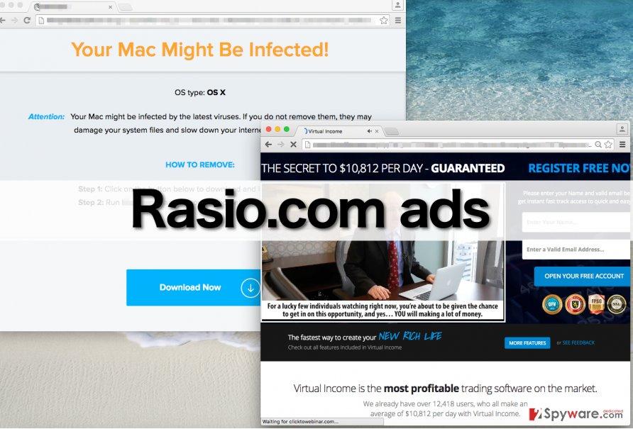 Rasio.com adware triggers redirects