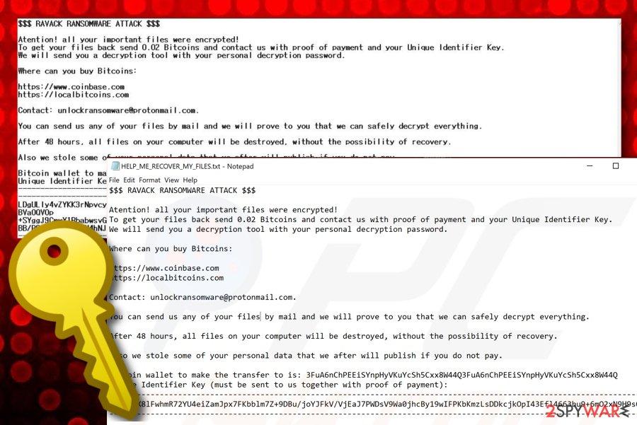 Ravack ransomware virus
