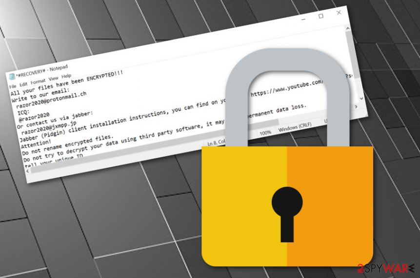 Razor ransomware virus
