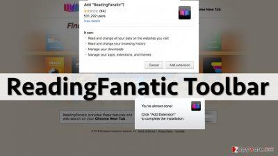 Screenshot of ReadingFanatic Toolbar download page
