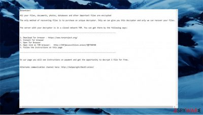 ReadMe ransomware