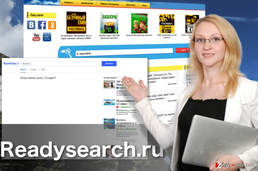 Image of the Readysearch.ru browser hijacker virus