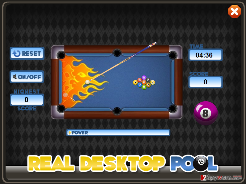Real Desktop Pool adware