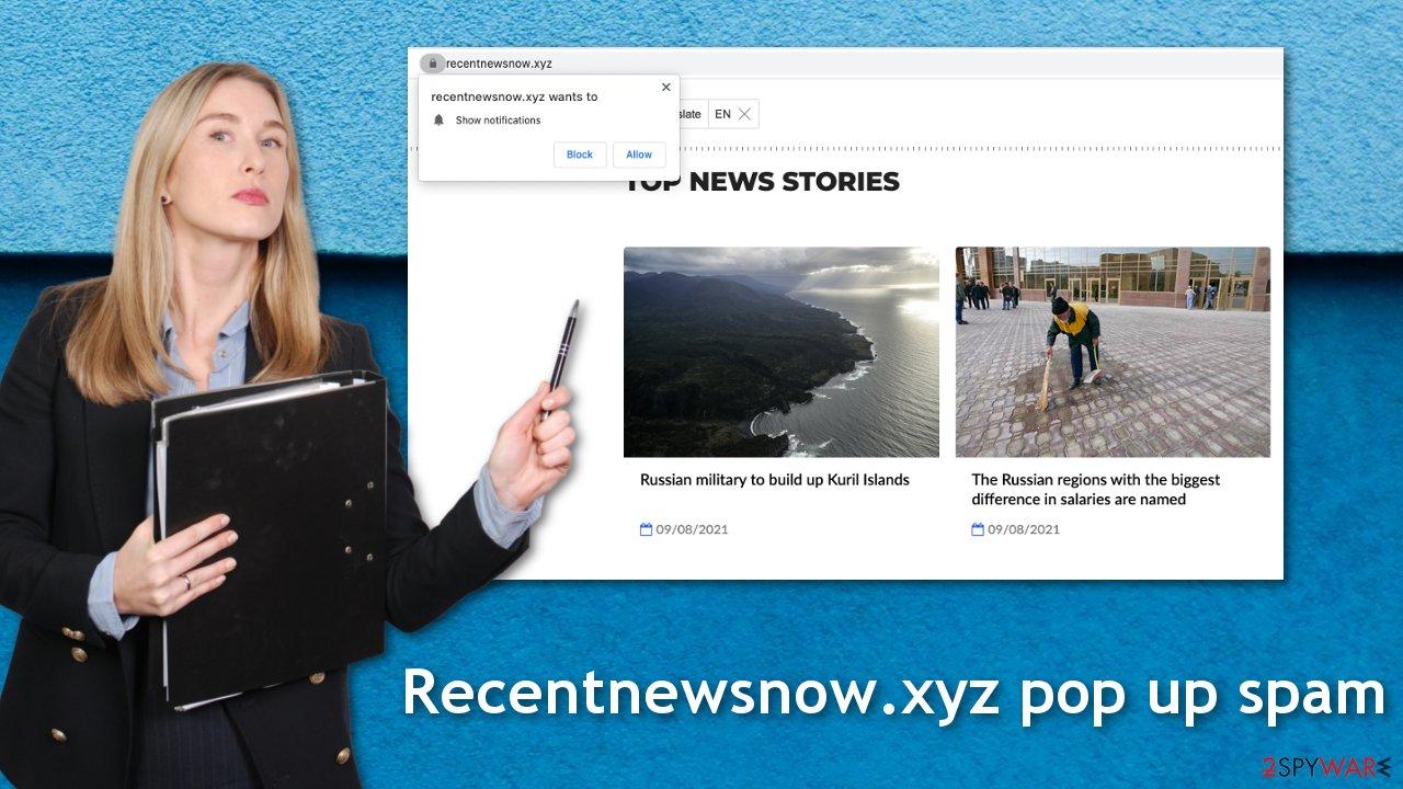 Recentnewsnow.xyz push notifications