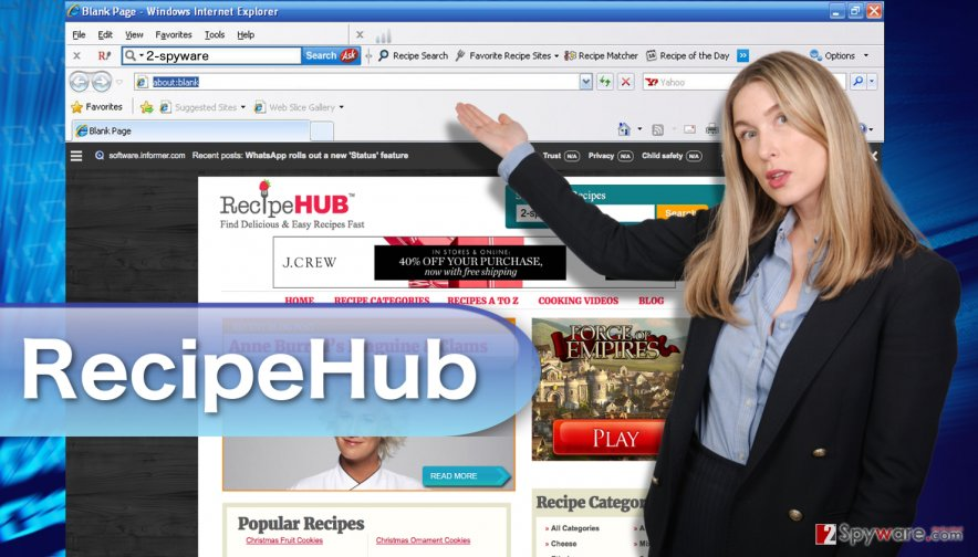 An image of the RecipeHub toolbar
