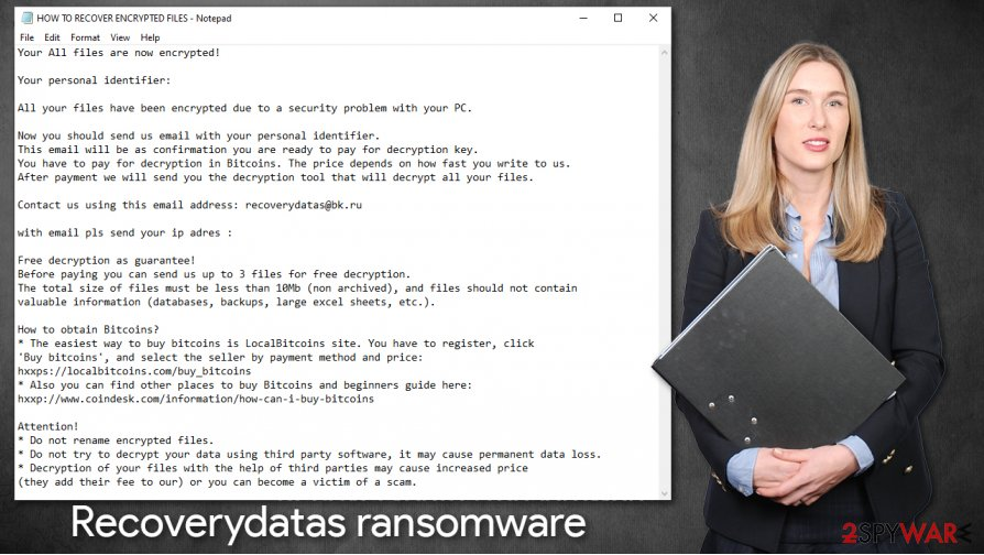 Recoverydatas ransomware virus