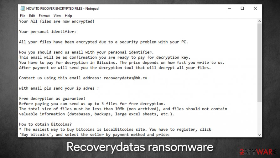 Recoverydatas ransomware