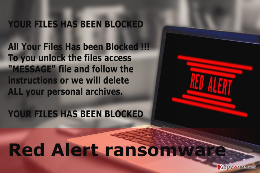 The picture of Red Alert ransomware virus