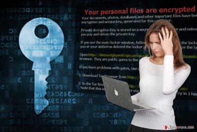The illustration of RedAnts ransomware virus
