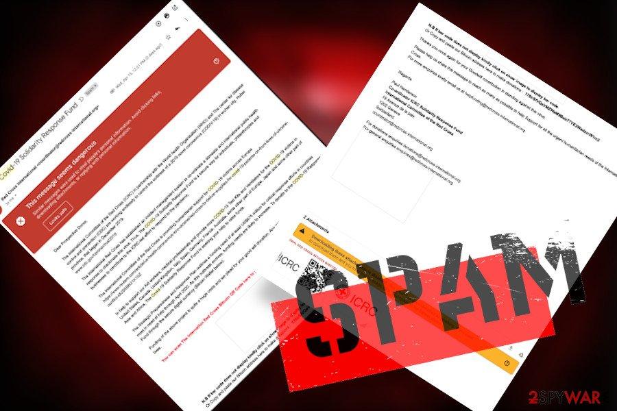 Avoid misleading Red Cross alerts