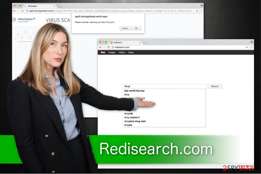 Redisearch.com fake search engine modifies your browser settings