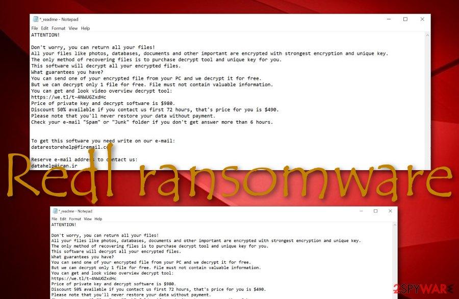 Redl ransomware virus