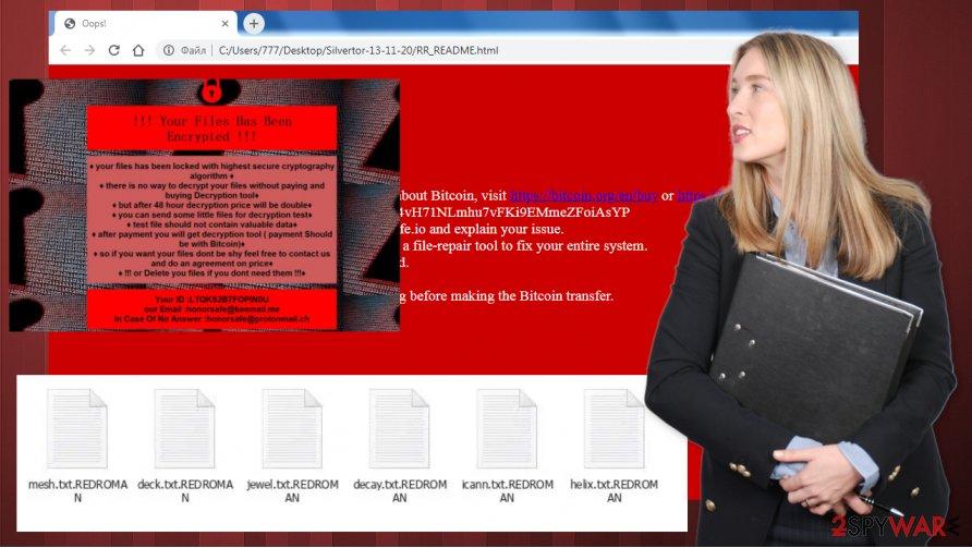 REDROMAN ransomware virus