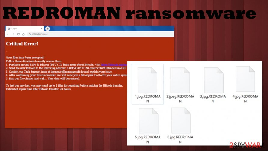 REDROMAN ransomware