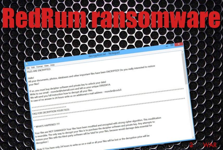 RedRum ransomware virus