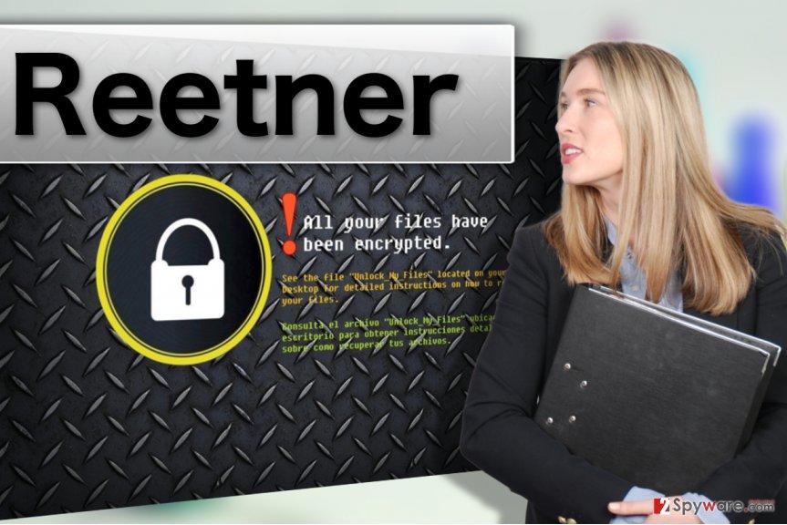 Reetner ransomware virus illustration