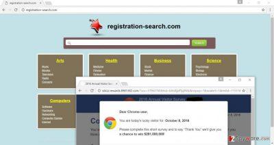 Registration-search.com hijacker changes homepage address