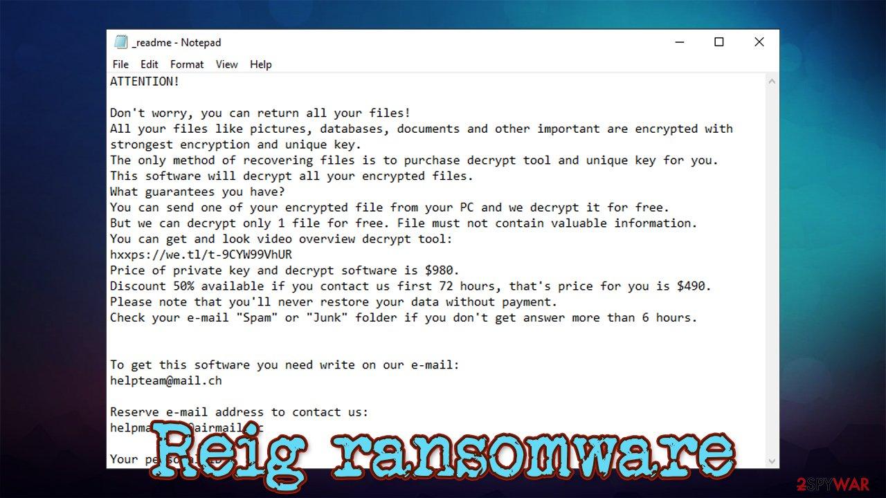 Reig ransomware