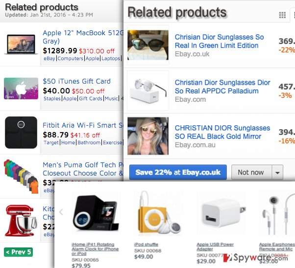 Related Products ads