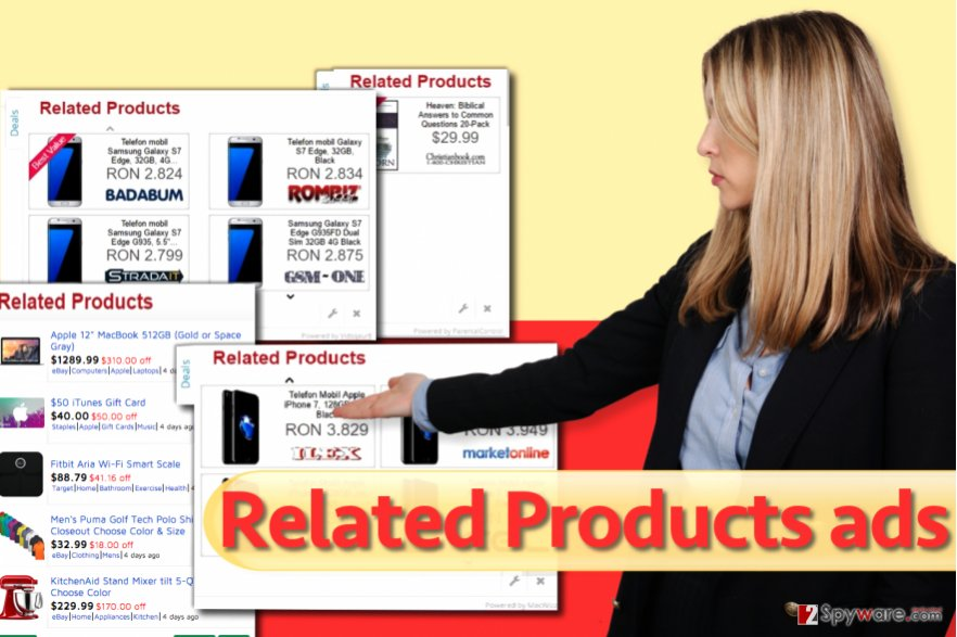 Related Products pop-up virus