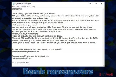 Remk ransomware