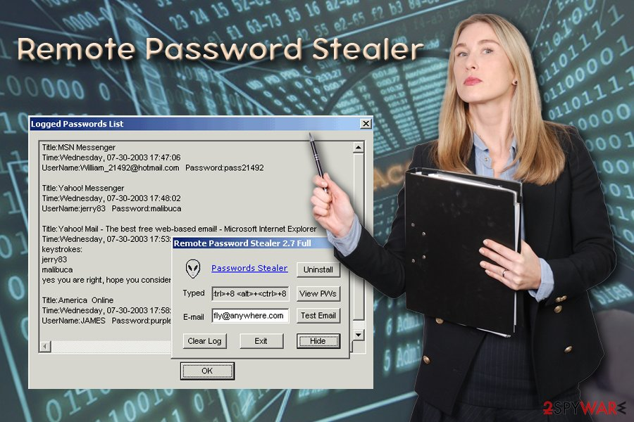 Remote Password Stealer trojan horse