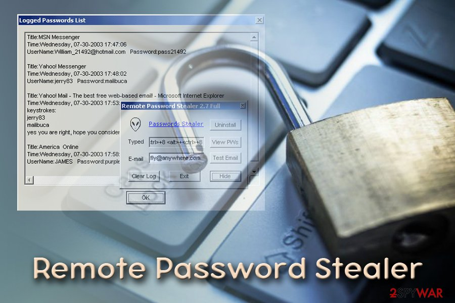 Remote Password Stealer virus