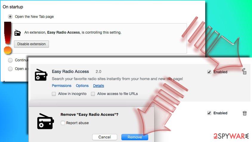 Remove Search.searcheasyra.com virus from Chrome