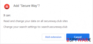 Secure Way browser extension