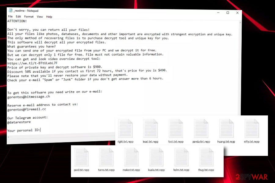Repp ransomware virus