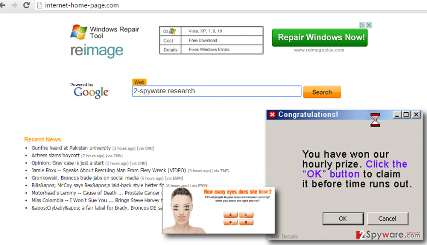 Internet-Home-Page.com virus