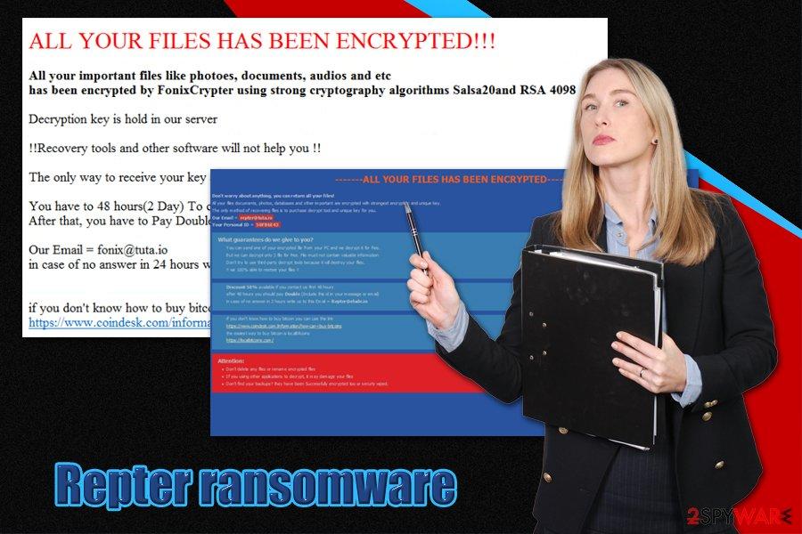 Repter ransomware virus