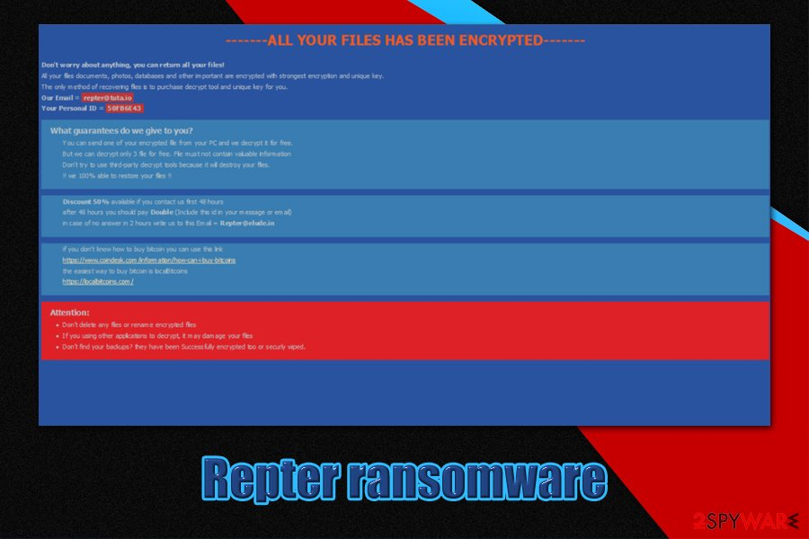 Repter ransomware
