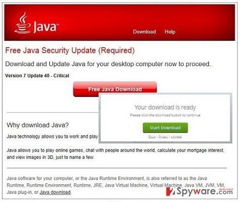 Required-Updates.com pop-up virus snapshot